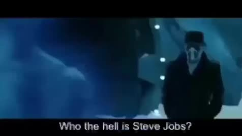 Steve Jobs. .. I don't get it, it was fine the way it was, all you've done is add subs and kill the video quality