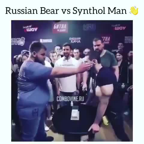Synthol Nerd Gets Slapped. .. Looks like his ear drum got