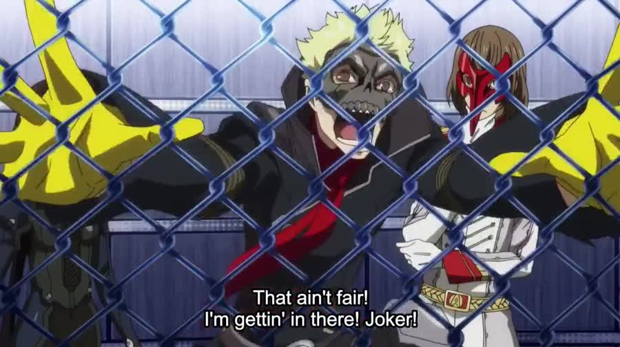 You tried. Source: Persona 5: The Animation join list: PersonaPosts (257 subs)Mention History.. when the writers makes your lightning based persona forget Elec Break for a gag
