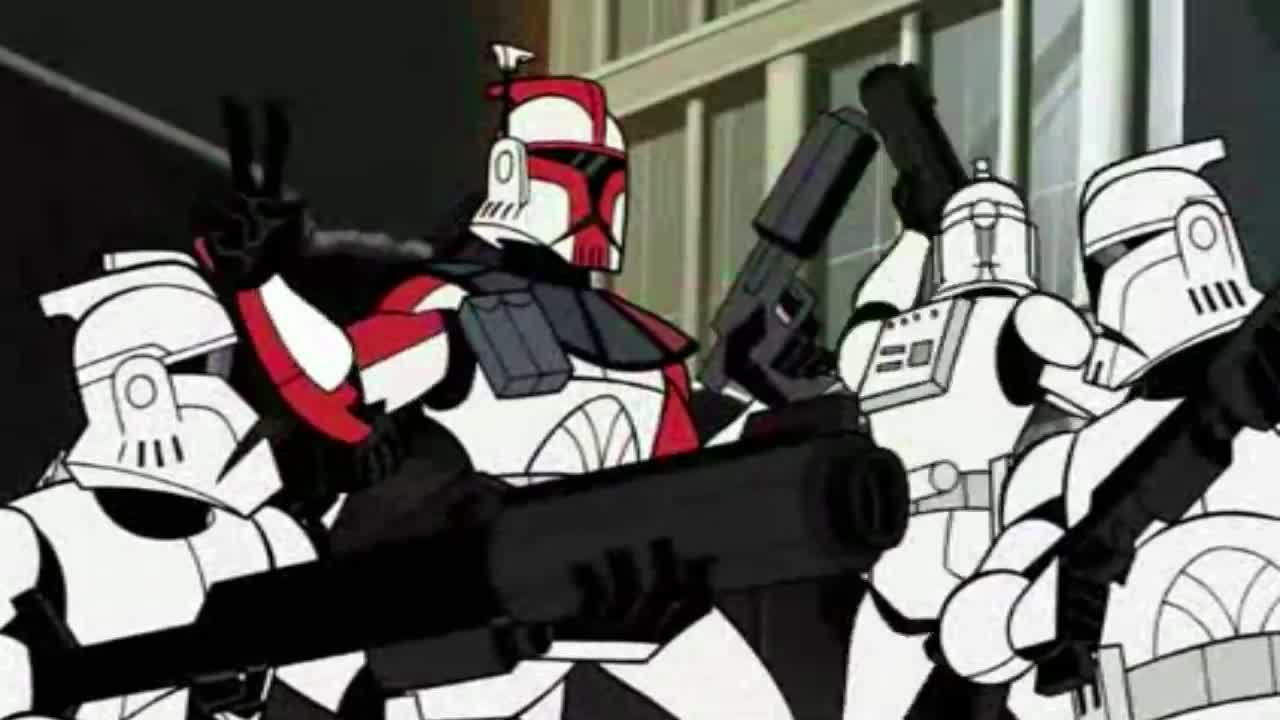 Peak Star wars Performance. .. Barely any dialog and barely any magic space weebs, just how I like my star wars. Give me a show like republic commando damnit.