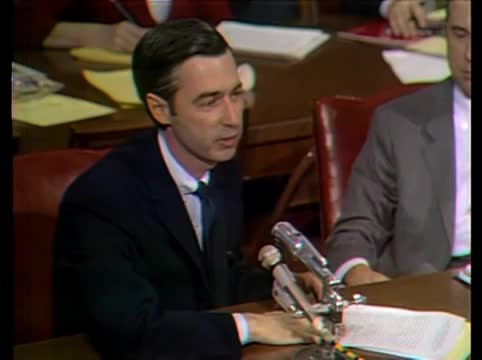 May 1,1969. .. this is probably one of the more important speeches in the history of television, especially because it worked. had mr. rogers not showed up to congress, or had