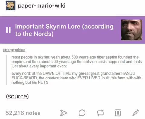 skyrim lore. .. He sounds like he could be in the game