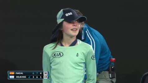Lucky girl. .. Lucky Nadal