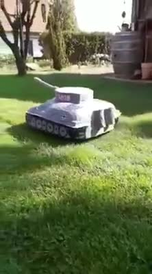 Lawnmower (loud sound). .. the first time I saw an automatic lawnmower bot, it was at a german car show. I guess one thing led to another.