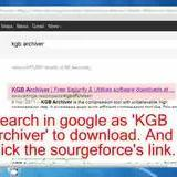 How to install & compress KGB Archiver