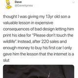 When your son is an entrepreneur.